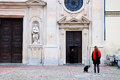 Old church in the historic streets of parma Royalty Free Stock Photo