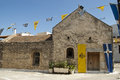 Old church in kritsa village crete island greece Royalty Free Stock Photography