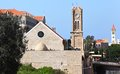 Old church lebanon in downtwon beirut with the grand serail in the background Royalty Free Stock Images