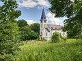 Old church in military zone Royalty Free Stock Photo