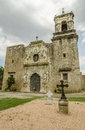 Old church of Mission San Jose in San Antonio, Texas Royalty Free Stock Photo