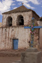 Old church near San Pedro de Atacama in Chile Royalty Free Stock Photo