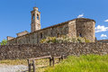 Old church in Prunetto, Italy. Royalty Free Stock Photo