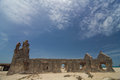 Old church remains after cyclone in dhanushkodi rameshwaram inda Royalty Free Stock Image