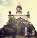Old church rural in the small ukrainian village Stock Images