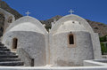 Old church on santorini greece Stock Photos