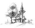 Old church sketch