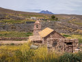 Old Church of Socaire Village - Atacama Desert, Chile Royalty Free Stock Photo