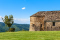 Old church and tree in Piedmont, Italy. Royalty Free Stock Photo
