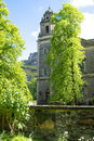 Old church with trees in Edinburgh, Scotland Royalty Free Stock Photo