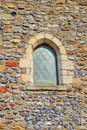 Old church window this photo shows a lovely this is part of reculver towers quite a tourist attraction just oozing with history Royalty Free Stock Photography