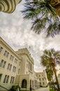 The old Citadel capus building s in Charleston south carolina Royalty Free Stock Photo