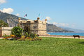 Old citadelle. Menton, France. Royalty Free Stock Photography