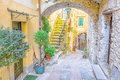 Old city of dolceacqua italy street in the Stock Photos