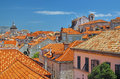 Old city of dubrovnik in croatia Royalty Free Stock Images
