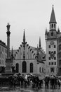 The old city hall munich germany altes rathaus in marienplatz Royalty Free Stock Images