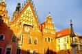 Old city hall of Wroclaw Stock Images