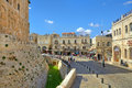 Old city of jerusalem israel august cobbled street among houses and tower david aka citadel medieval fortress located near jaffa Stock Image