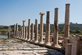 Old city patara columns in turkey Stock Image