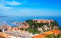 Old city peninsula with prince palace in monaco tiny little country mediterranean europe Stock Photography