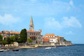 Old city of porec in croatia Royalty Free Stock Photography