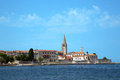 Old city of porec in croatia Stock Photography