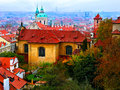 Old city of praha panorama the Stock Photo