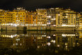 Old city river side houses reflections in the river arno florence italy Royalty Free Stock Photos