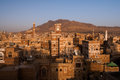Old city of sana in yemen view over the city Royalty Free Stock Photos