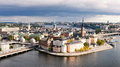 Old city stockholm sweden panoramic view on the about heights Stock Photo