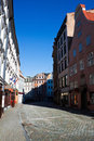 Old city street of Riga Royalty Free Stock Photos