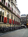 Old city street an urban block of buildings the photos taken in delft netherland Stock Photos