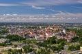 Old city of tallinn from plane estonia Stock Photo