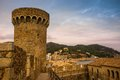 Old city of Tossa de Mar Stock Photo