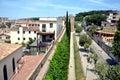 Old city walls of Girona, Catalonia, Spain Royalty Free Stock Photos