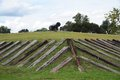 Old Civil War era Cannon atop a military fort. Royalty Free Stock Photo