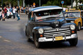 Old classic american car in the streets of Havana Royalty Free Stock Photography