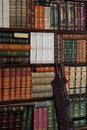 Old classic books on bookshelf Royalty Free Stock Photos