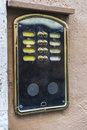 Old classic intercom in Rome, Italy Royalty Free Stock Photo