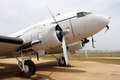 Old classic plane parked Royalty Free Stock Photo
