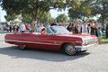 Old classic red american convertible Royalty Free Stock Photo