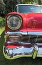 Old classic red vintage car headlights Royalty Free Stock Photo