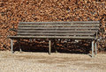 Old classic wooden bench park Royalty Free Stock Photos