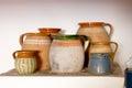 Old clay pots Royalty Free Stock Photo