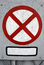 Old clearway sign Stock Images