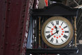 Old clock in Buenos Aires railway station Royalty Free Stock Photo
