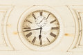 Old Clock Enclosed In Wooden P...