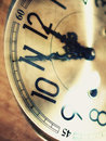 Old clock face with perspective angle Stock Photo