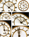 Old clock face with roman numerals Stock Image