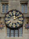Old clock with gold numbers and hands Royalty Free Stock Photography